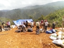 Setting up fly camp at La Bestia target